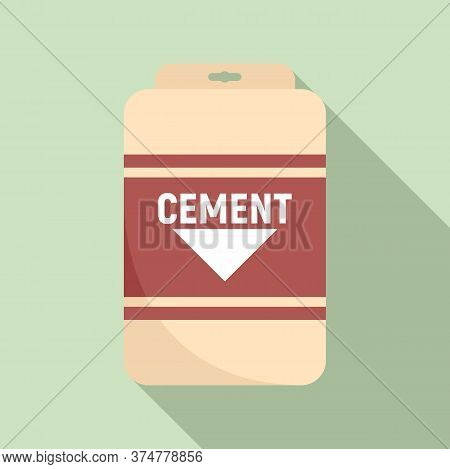 Cement Sack Icon. Flat Illustration Of Cement Sack Vector Icon For Web Design