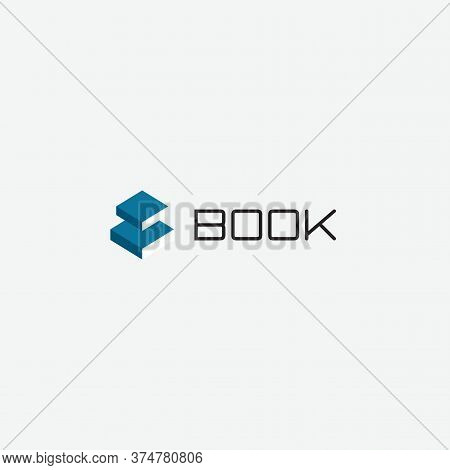 Electronic Book App Logo. Reading And Studying Symbol.education Emblem. School, College, University