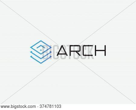 Data Center Logo. Database Hosting Emblem. Digital Files Cloud Storage Icon. Software, Hardware Back
