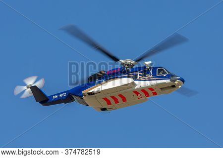 Avalon, Australia - March 2, 2015: Sikorsky S-92a Helicopter Vh-nyz Operated By Bond Helicopters Aus