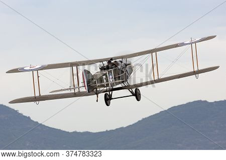 Avalon, Australia - February 28, 2015: Bristol F.2 Fighter (replica) British Two-seat Biplane Fighte
