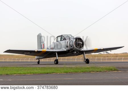 Avalon, Australia - February 28, 2015: Commonwealth Aircraft Corporation Ca-25 Winjeel Training Airc