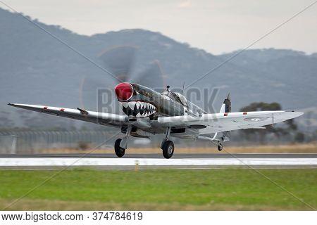 Avalon, Australia - February 27, 2015: Supermarine Spitfire Mk Viii Vh-het In Royal Australian Air F