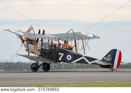 Avalon, Australia - February 27, 2015: Royal Aircraft Factory R.e.8 (replica) British Two-seat Bipla