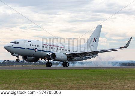 Avalon, Australia - February 27, 2015: Royal Australian Air Force (raaf) Boeing 737-7df Vip Transpor