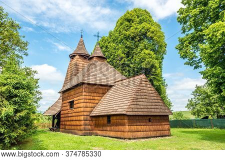 View At The Wooden Church Of Saint Luke In Trocany - Slovakia