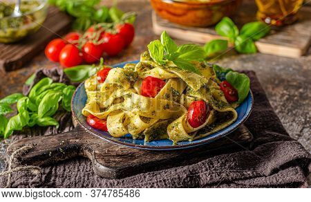 Pasta With Pesto Homemade