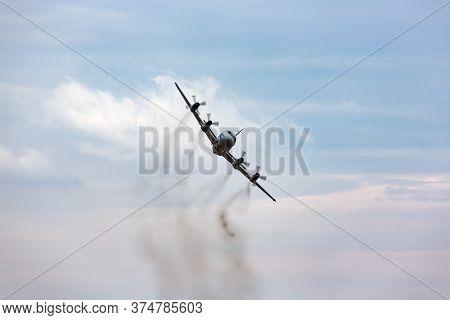Avalon, Australia - February 27, 2015: Royal Australian Air Force (raaf) Lockheed Ap-3c Orion Mariti