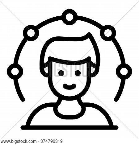 Advisory Broker Icon. Outline Advisory Broker Vector Icon For Web Design Isolated On White Backgroun