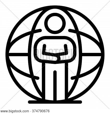 Professional Global Broker Icon. Outline Professional Global Broker Vector Icon For Web Design Isola
