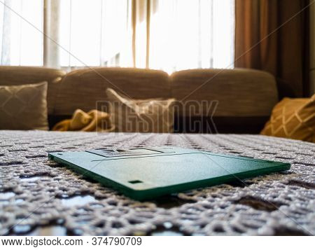 Brod / Bosnia And Herzegovina - April 7, 2020: Floppy Disc On The Table In Living Room, Object  On W