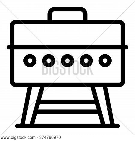 Backyard Bbq Icon. Outline Backyard Bbq Vector Icon For Web Design Isolated On White Background