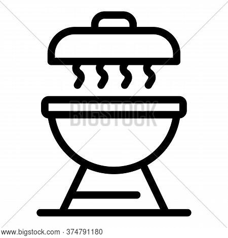 Hot Brazier Icon. Outline Hot Brazier Vector Icon For Web Design Isolated On White Background