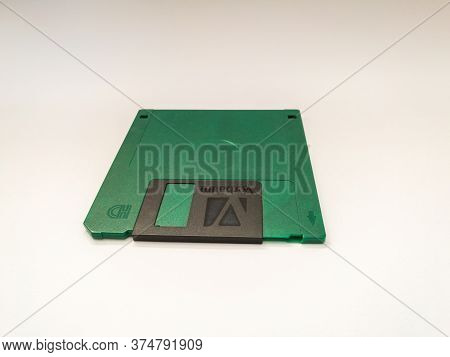 Bosnia And Herzegovina - April 7, 2020: Floppy Disk, Object Isolated On White Background, Outdated T