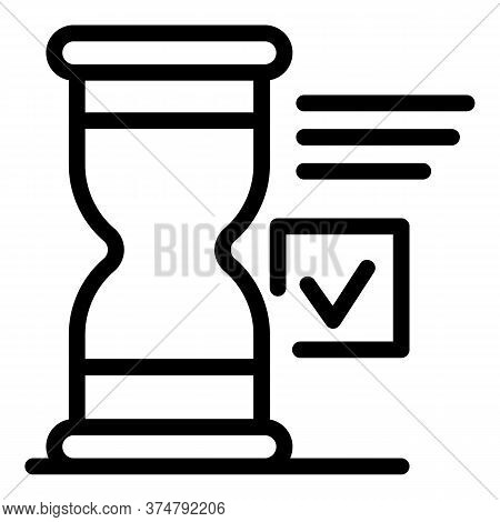 Sport Time Done Icon. Outline Sport Time Done Vector Icon For Web Design Isolated On White Backgroun