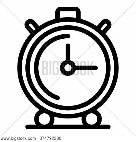 Timer Icon. Outline Timer Vector Icon For Web Design Isolated On White Background