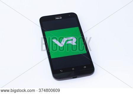 Kouvola, Finland - 23 January 2020: Vr App Logo On The Screen Of Smartphone Asus