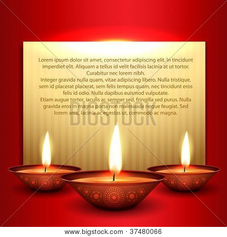 beautiful happy diwali background with space for your text poster