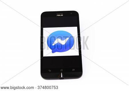 Kouvola, Finland - 23 January 2020: Messenger App Logo On The Screen Of Smartphone Asus