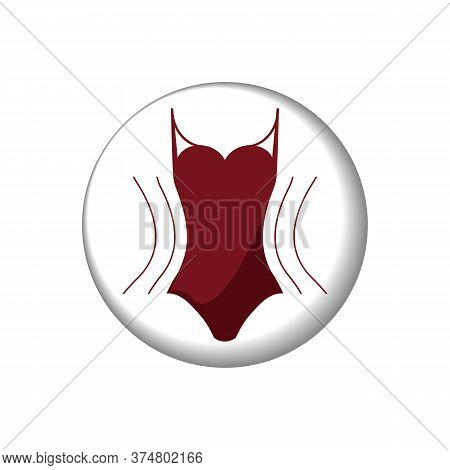 Vector. Concept Slimming Symbol Weight Loss. Silhouette Of Sport Girl With Slender Figure