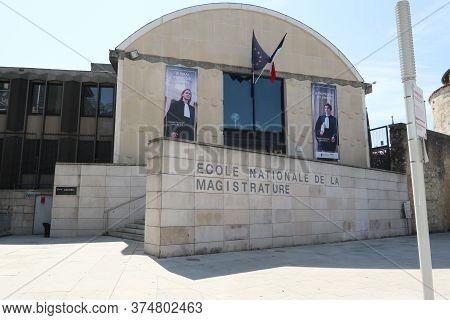 Bordeaux, Nouvelle Aquitaine / France - 09 02 2018 : Ecole Nationale De La Magistrature In Bordeaux
