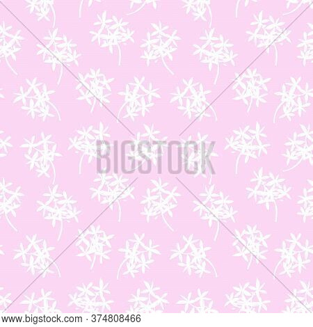 Pink Tropical Botanical Leaf Seamless Pattern Background