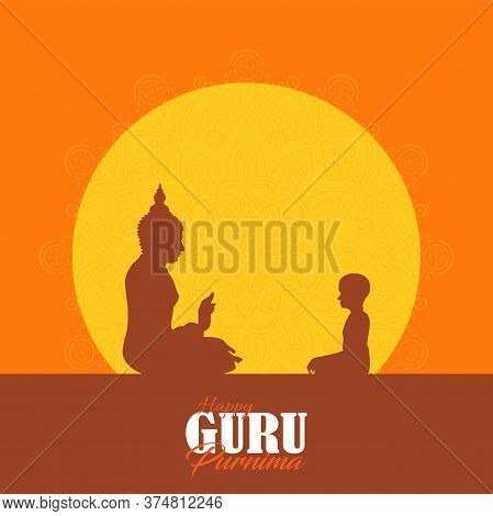 Sacred Fig Or Pipal Tree Leaf Buddha Purnima Or Vesak Day Vector Illustration, Also Observed As Guru