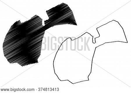Ardabil City (islamic Republic Of Iran, Persia, Ardabil Province) Map Vector Illustration, Scribble
