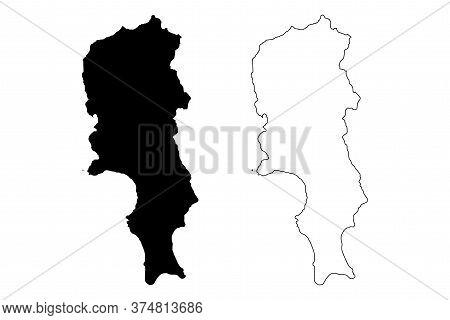 Sal Municipality (republic Of Cabo Verde, Concelhos, Cape Verde, Sal Island, Archipelago) Map Vector