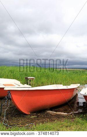 Boats On Estuary Of Lake Seliger