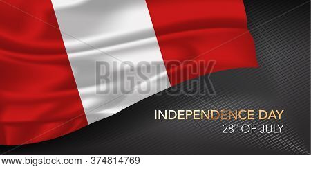 Peru Happy Independence Day Greeting Card, Banner With Template Text Vector Illustration