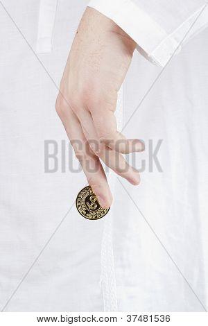 Goldene Münze