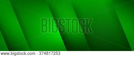 Abstract Horizontal Colored Background In Green Colors
