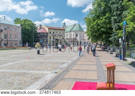Lublin, Poland - June 11, 2020: View In Lublin After Catholic Procession On Feast Of Corpus Christi.