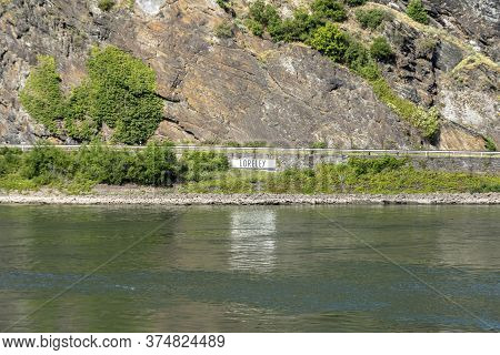 The Lorelei (loreley) A Steep Slate Rock On The Right Bank Of The River Rhine In The Rhine Gorge (or