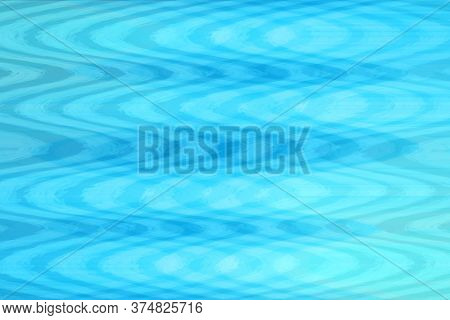 Abstract Blue Wave Undulations Water Summer Vibes