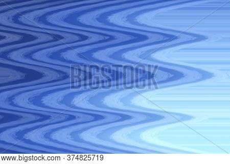 Abstract Blue Waves Curly Pattern Undulations Surface