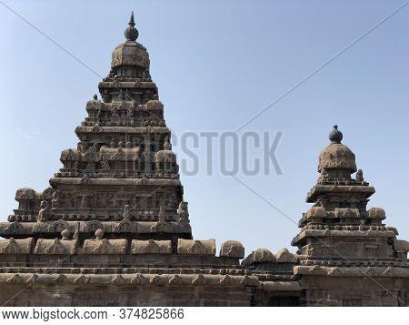 Shore temple in Mahabalipuram, Tamilnadu, India. It is one of the Group of Monuments at Mahabalipura