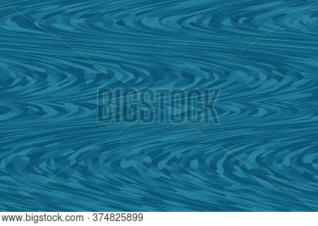 Abstract Blue Background Waves Curved Painting Undulations