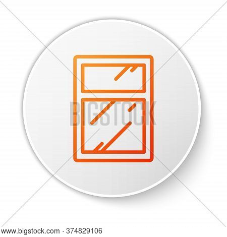 Orange Line Cleaning Service For Windows Icon Isolated On White Background. Squeegee, Scraper, Wiper