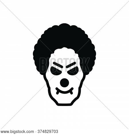 Black Solid Icon For Monster-clown Monster Clown Killer Circus Dracula