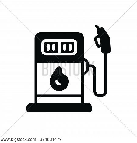 Black Solid Icon For Fuel Pump Petrol-station Petrol Energy Biofuel Transport Tank Petroleum