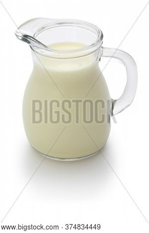 buttermilk isolated on white background