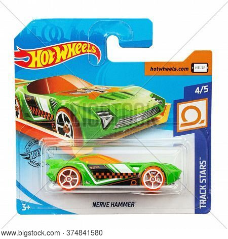 Ukraine, Kyiv - June 22. 2020: Toy Car Model Nerve Hammer. Hot Wheels Is A Scale Die-cast Toy Cars B