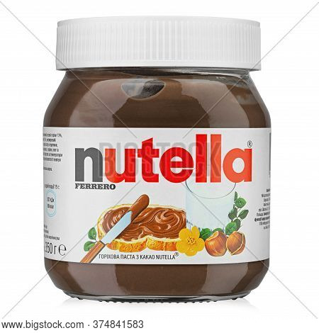 Ukraine, Kyiv - June 30. 2020: Jar Of Nutella Hazelnut Spread.nutella Is The Brand Name Of A Hazelnu