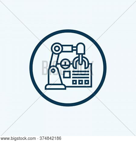 Artificial Intelligence Vector Icon On White Background. Flat Vector Artificial Intelligence Icon Sy