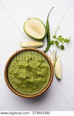 Raw Mango Chutneyalso Known Asgreen Aam Or Kairi Chutney