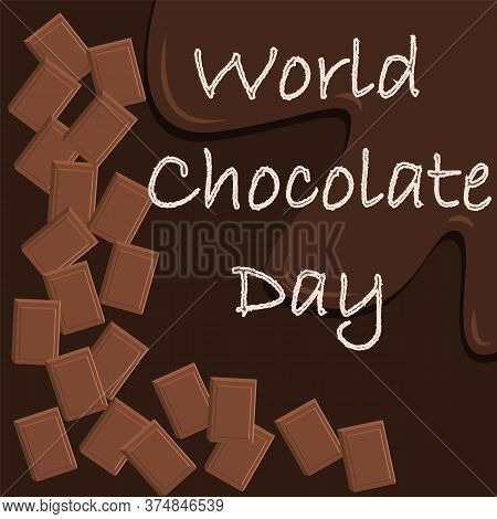 World Chocolate Day Vector. Important Day. Chocolate Day Poster, July 7. Celebrate World Chocolate D