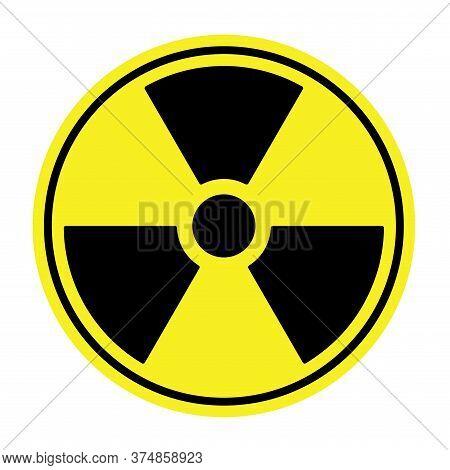 Radioactive Contamination Symbol. Vector Illustration. Black And Yellow Sign Of Nuclear Danger. Radi
