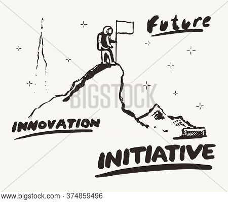 Future Innovation Initiative A Astronaut A Vector